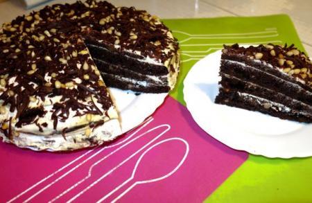 Черемуховый торт со сметаной